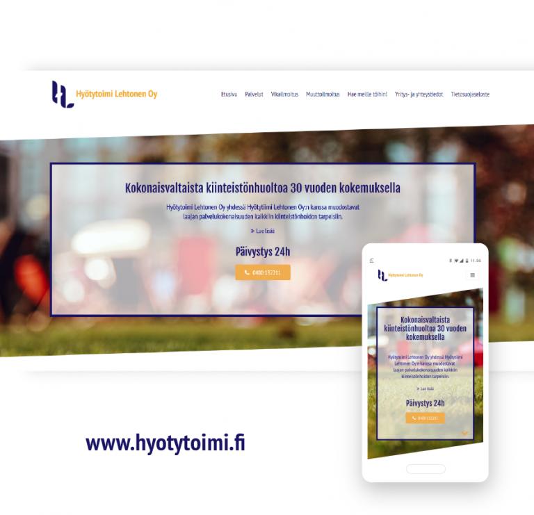 Nettisivusuunnittelu Flatdot Hyötytoimi Lehtonen